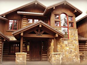 Luxury Mountain Home Front Entry
