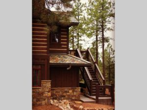 Luxury Mountain Home Back Stairs
